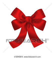 large gift bow stock illustration of gift bow with ribbons isolated on white