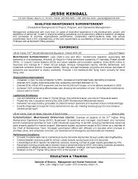 Human Resources Resume Objective Examples by Maintenance Resume Objective Examples 7119