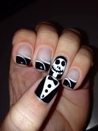 jack the pumpkin king gel nails halloween nails cute gel nails