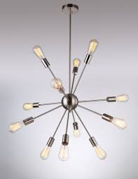 Sputnik Light Fixture by 130 Deking 12 Lights Pendant Light Silver Modern Satellite Style
