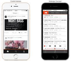 soundcloud ios redesign concept design decisions u0026 walkthrough