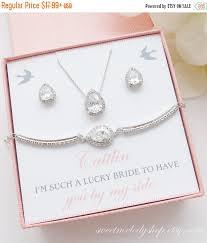 personalized wedding jewelry sale personalized bridesmaid gift bridesmaid jewelry set
