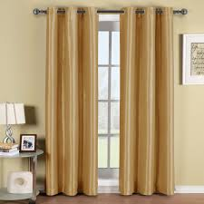 Yellow Grommet Curtain Panels by Soho Thermal Blackout Grommet Top Curtain Panels Single