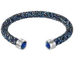 blue crystal necklace swarovski images Crystaldust cuff blue stainless steel jewelry swarovski jpg