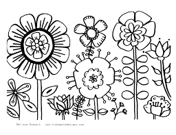 Coloring Pages Flowers And Butterflies Free Coloring Pages Flowers Free Colouring Pages