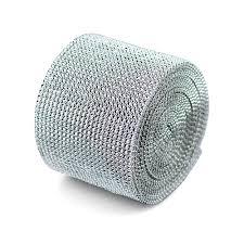 diamond mesh ribbon silver diamond mesh ribbon 4 5 x 30 bd215 40 19 95