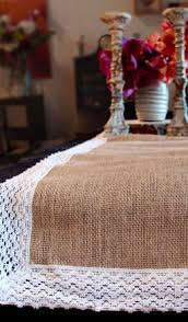 Burlap Lace Table Runner Table Runners Toppers Tablecloths U0026 Napkins 20 U201360 Off