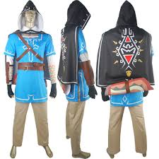 halloween costume with cape the legend of zelda breath of the wild link uniform with