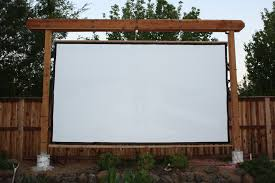 backyard projector and screen home outdoor decoration