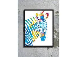 watercolor art print zebra painting home decor animal watercolor