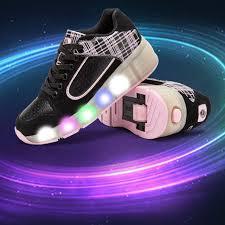 light up roller skate wheels popular led lights heelys children shoes with led light up wheels