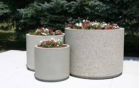standard round planters doty concrete
