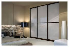 Sliding Closet Door by Wenge Sliding Closet Doors With White Lami Glass Toronto Space