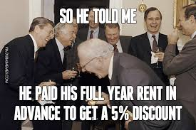 Paid In Full Meme - he paid his full year rent in advance image dubai memes