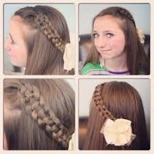 really cool hairstyles create a pull through braid easy