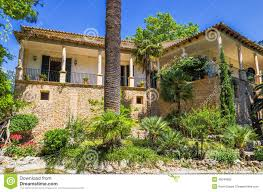 historical spanish house and garden at alfabia stock photo image