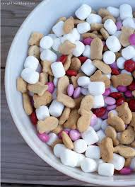 s day m m s valentines smores snack mix valentines this could be