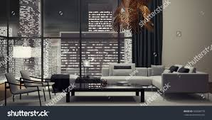 modern interior design living room 3d stock illustration 555806779