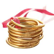 gold bracelet set images Budha girl serenity prayer all weather gold bangles set of 9 jpg