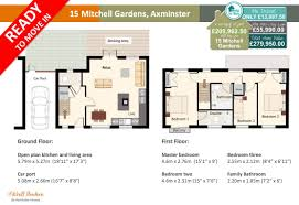 15 mitchell gardens new 3 bedroom home axminster homes