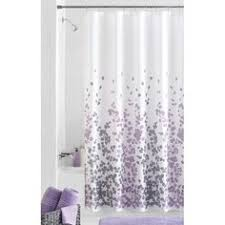 Grey And Purple Curtains Embroidered Floral Vine Shower Curtain Shower Curtains Simons