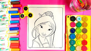 coloring mulan disney princess coloring pages with magic color