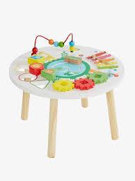 table d activité bébé avec siege table d activités savane multicolore vertbaudet