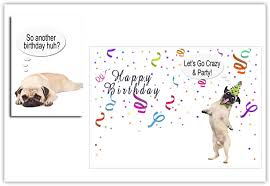 printable pug cards u0026 more print from anywhere just grab it
