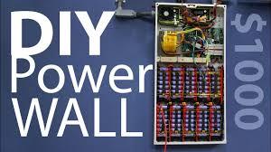 diy tesla powerwall 1kw diy powerwall affordable 18650 build project 2018 youtube