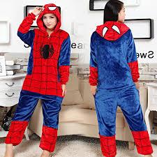 Kigurumi Halloween Costume Superhero Spiderman Onesies Pajamas Kigurumi Jumpsuit Hoodies