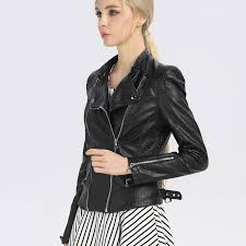 2017 new fashion women leather coat soft faux leather ladies pink