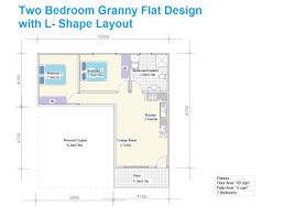 marvelous 2 bedroom granny flat floor plans 4 l shaped two