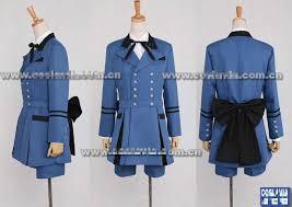 Blue Man Halloween Costume Black Butler 2 Cosplay Ciel Phantomhive Costume Blue Male Cosplay