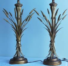 Frederick Cooper Table Lamps by Pair Of Mid Century Modern Sheaf Of Wheat Table Lamps By
