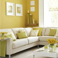 interior design beautiful white yellow living room decoration