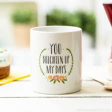 Mug You Brighten Up My Days Mr Wonderful