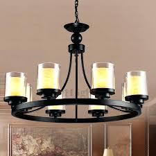 faux pillar candle chandelier lighting faux pillar candle chandelier lighting pertaining to contemporary