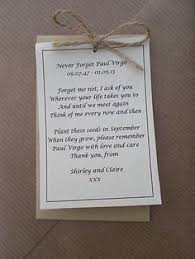 forget me not seed packets personalized memorial forget me not seed packets for