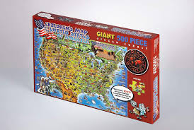 map usa jigsaw jigsaw puzzle 500 children s map of the united states of