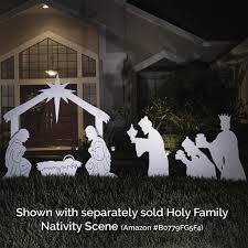 Outdoor Plastic Light Up Nativity Scene by Amazon Com Teak Isle Christmas Outdoor 3 Wise Men Nativity