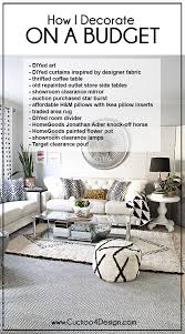 Home Decorating Budget How To Decorate On A Very Tight Budget Cuckoo4design