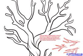 how to draw thanksgiving pictures how to draw a dead tree step by step trees pop culture free