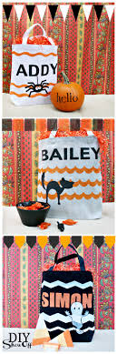 personalized trick or treat bags personalized trick or treat bags diy show diy decorating