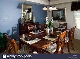 middle class single family home interior dining room table and