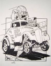 coloring page of a rat at rat fink coloring pages coloring pages for children