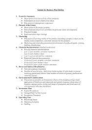 easy outlines ideas collection business plan format template for basic outlines