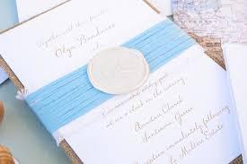 Destination Wedding Invites Burlap Destination Wedding Invitation Santorini Blue Magpie