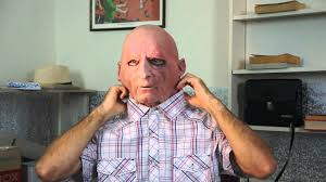 bald man halloween mask latex rubber old man mask review youtube