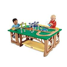 Amazon Com Fisher Price Geotrax Train Table And Rc Set Age 2