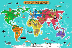 North America World Map by A Vector Illustration Of Map Of The World Royalty Free Cliparts